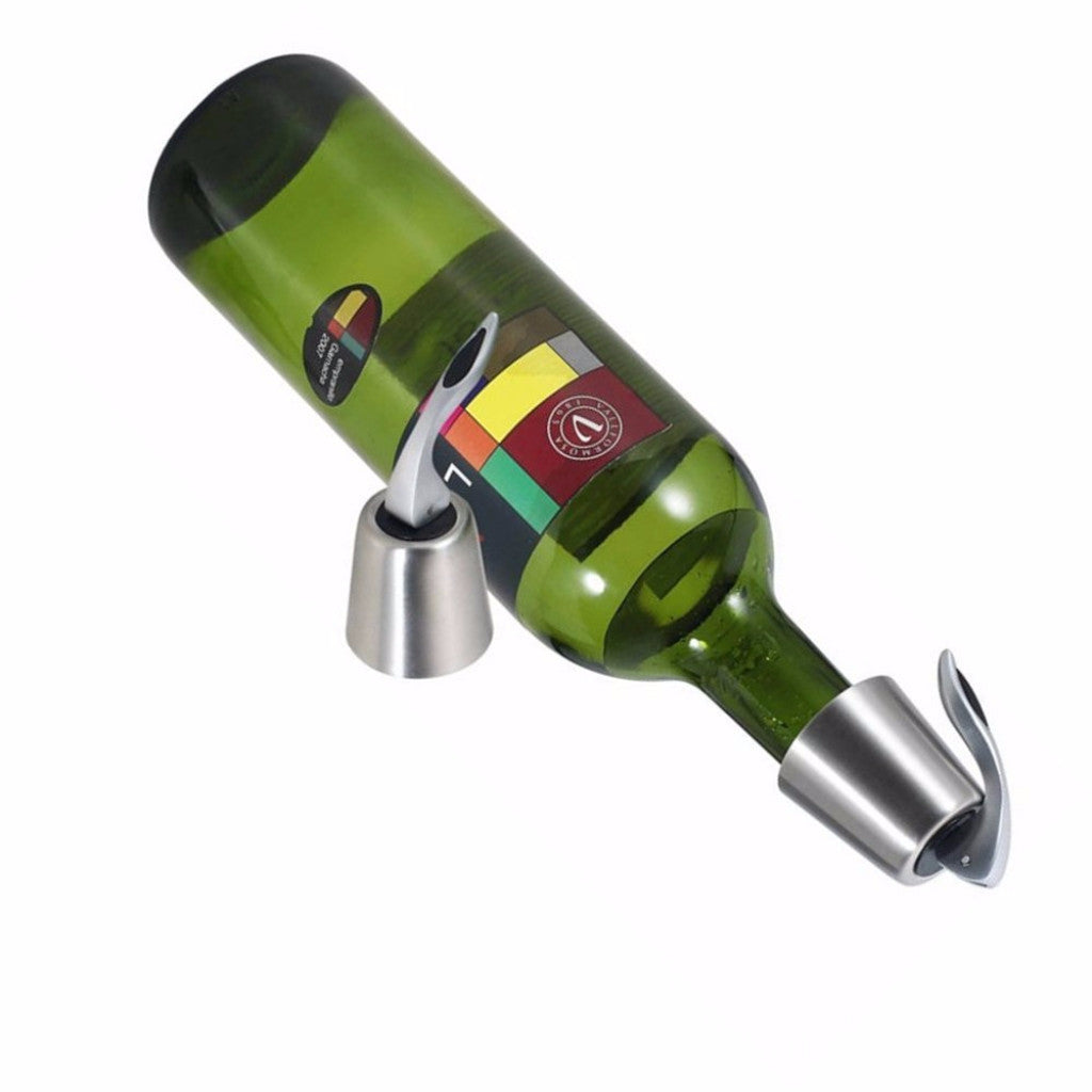 ProCIV STEEL VACUUM-SEALED WINE BOTTLE STOPPERS – 3 STOPPERS