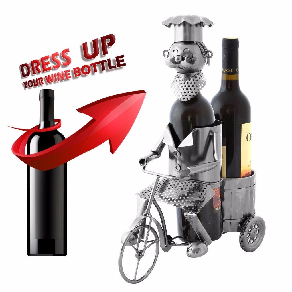 Berkeley Designs Chef-On-The-Go Wine Bottle Holder – Unique Gift to Chefs And Wine Lovers