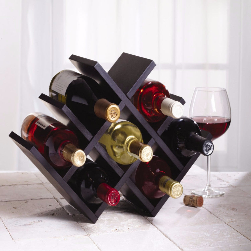 Kamenstein Wood Butterfly Wine Rack