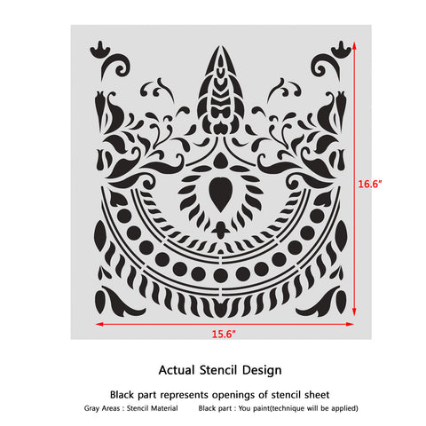 Traditional Border Stencil for furniture and DIY Wall Decor
