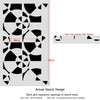 Allover Stencil Astakos - Reusable stencils for walls - Easy DIY home decor