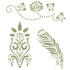 3 designs art stencil - Reusable Craft Projects & DIY Projects