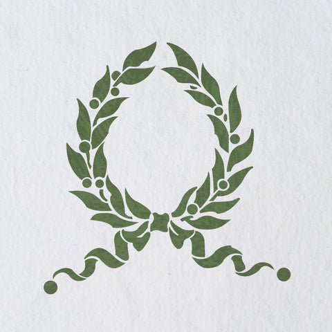 Laurel Wreath Leaf Stencils Country French stencil for Home Interior Decor