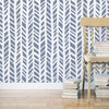 Herringbone Pattern Allover Zoe Stencil for DIY Decor