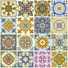 Decorative Tiles Stickers Brno - Pack of 16 tiles - Tile Decals for Walls Kitchen Bathroom