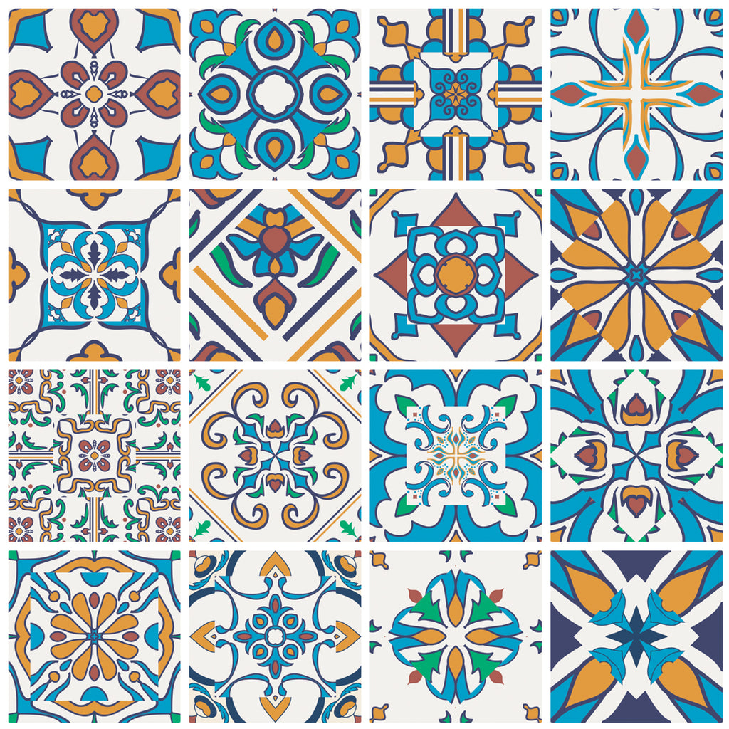 Decorative tiles stickers motril pack of 16 tiles tile decals decorative tiles stickers motril pack of 16 tiles tile decals art for walls kitchen amipublicfo Image collections