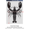 Lobster Wall Stencil - Reusable stencils even better than wall decal