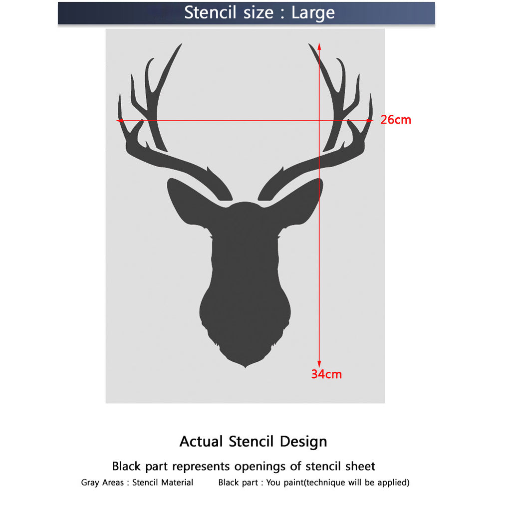 Deer Head Stencil For Decorative Stencils Diy Easy Home Decor