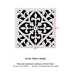 Wall Stencils Damask Tile Stencil for DIY Decor Faux Reusable Template V0029