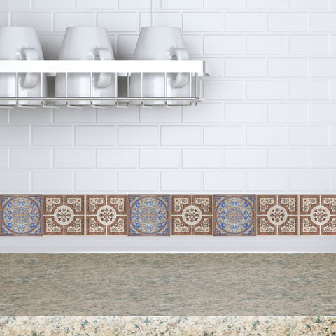 Decorative Tiles Stickers Lisboa - Set of 4 tiles - Tile Decals Art for Walls Kitchen backsplash Bathroom Accent Kitchen