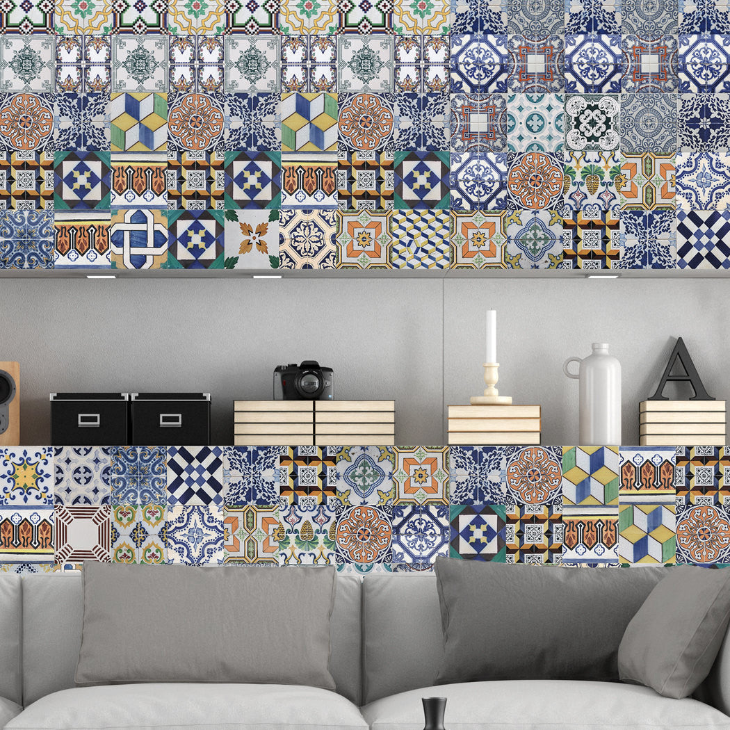 - Portuguese Tiles Stickers Amadora - Pack Of 36 Tiles - Tile Decals