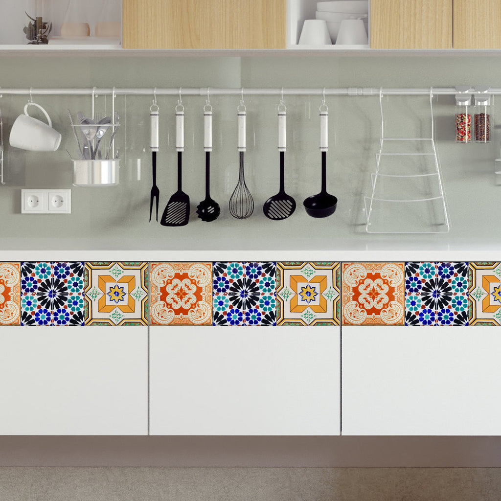 Damask Wall Sticker Portuguese Tiles Stickers Maceira Pack Of 16 Tiles