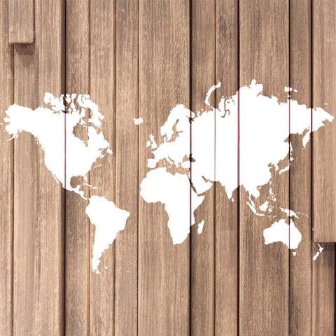 World Map Wall Art Stencil - Large Size Reusable Stencils for DIY Home Decor Great World Map Decal Alternative