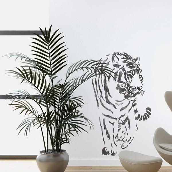Wall Stencils Tiger Large stencil Template For Wall Graffiti Canvas art DIY