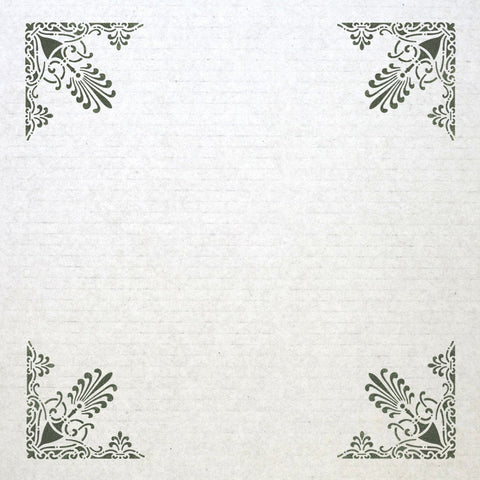 Corner Stencil Reusable Template 037 for Wall DIY decor