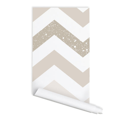 Chevron Pattern 02 Peel & Stick Repositionable Fabric Wallpaper
