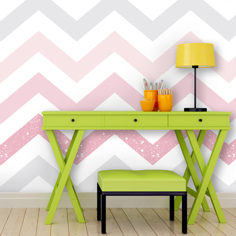 Chevron Pattern 01 Peel & Stick Repositionable Fabric Wallpaper