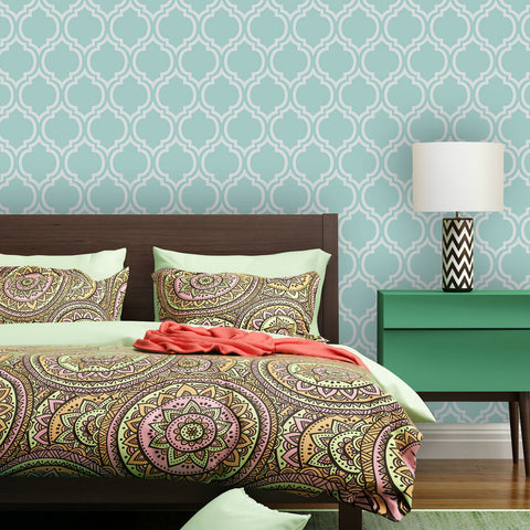 Moroccan Casablanca 01 Peel & Stick Repositionable Fabric Wallpaper