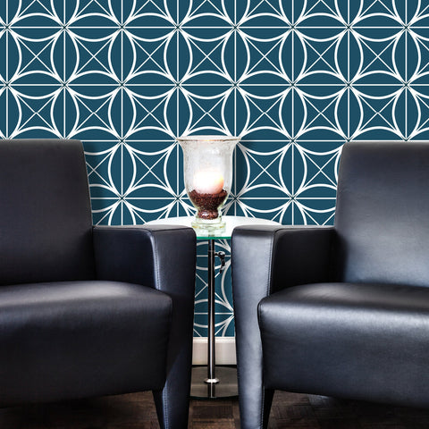 Geometric Coco 01 Peel & Stick Repositionable Fabric Wallpaper