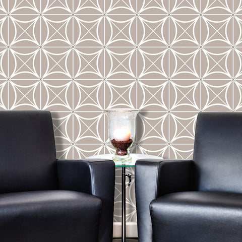 Geometric Coco 02 Peel & Stick Repositionable Fabric Wallpaper