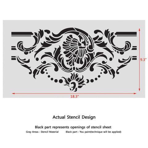 Wall Border stencils Pattern Odelie Reusable Template for DIY wall decor