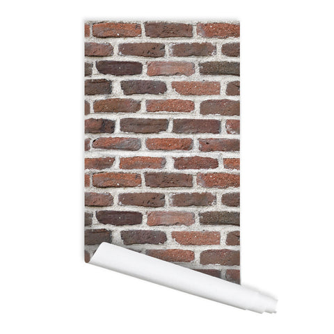 Brick Wall Pattern Ann Peel & Stick Repositionable Fabric Wallpaper