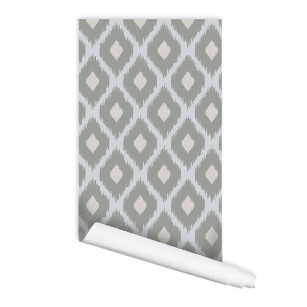 Ikat Pattern 01 Peel & Stick Repositionable Fabric Wallpaper