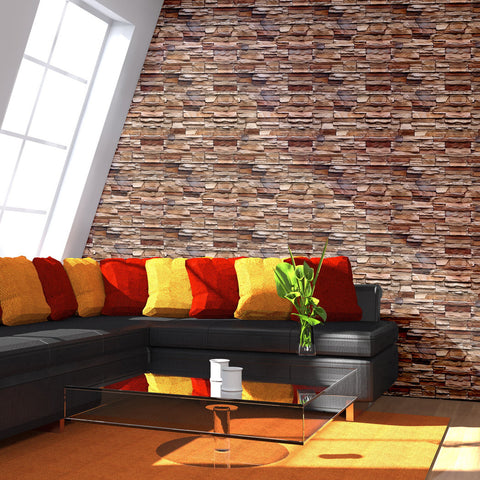 Stone Surface Wall Pattern Peel & Stick Repositionable Fabric Wallpaper