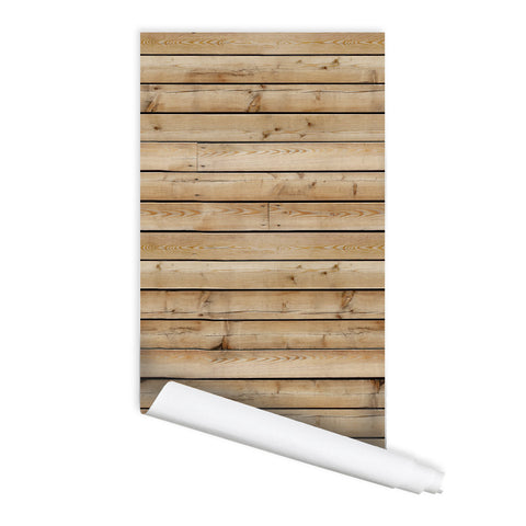 Wooden Plank Pattern Self adhesive Peel & Stick Repositionable Fabric Wallpaper