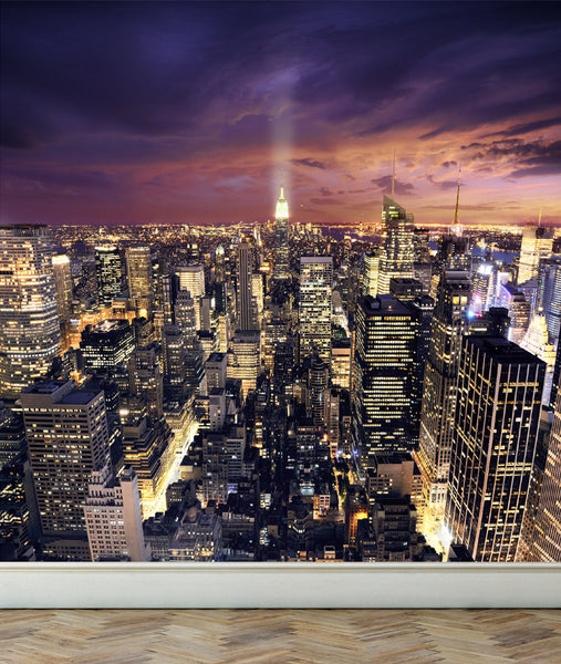 Wall Mural View of New York City, Peel and Stick Fabric Wallpaper