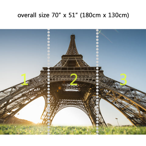 Wall Mural Eiffel Tower Upward View , Peel and Stick Repositionable Fabric Wallpaper for Interior Home Decor