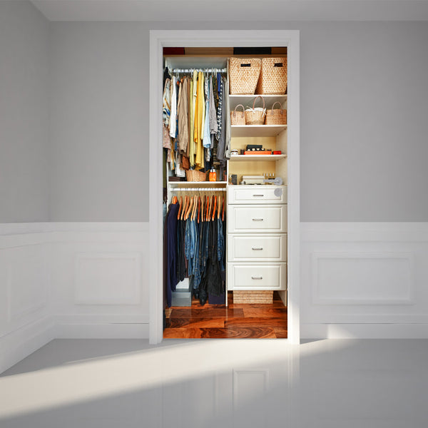 "Door Wall Sticker Closet - Peel & Stick Repositionable Fabric Door Murals 31""w x 79""h (80 x 200cm)"