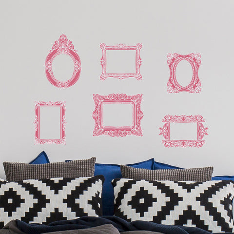 Antique Photo Frame wall decal Kit - Wall Fabic Stickers - Removable Peel and Stick for Home Nursery decor