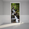 Door Wall Sticker Mountain Streams - Self Adhesive Fabric Door Wrap Wall Sticker
