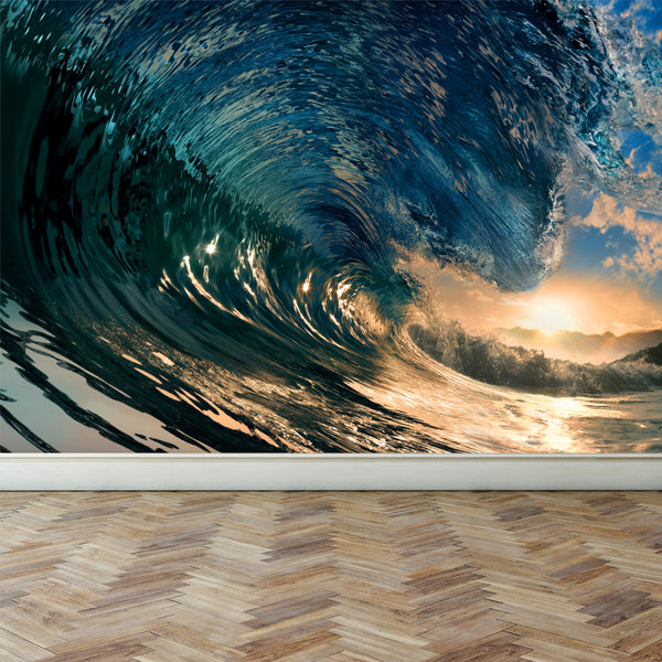 Wall Mural Ocean Wave, Peel and Stick Repositionable Fabric Wallpaper