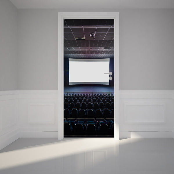 Door Wall Sticker Modern Blank Theater - Self Adhesive Fabric Door Wrap Wall Sticker
