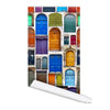 Old collage doors Self adhesive Peel and Stick Fabric Wallpaper