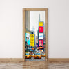 Door Mural NEW YORK CITY Times square - Self Adhesive Door Wrap Wall Sticker