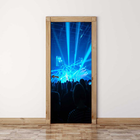 Door Mural Concert - Self Adhesive Fabric Door Wrap Wall Sticker