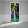 Door Wall Sticker Waterfall - Self Adhesive Fabric Door Wrap Wall Sticker