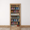 Door Mural Old vintage books on shelves - Self Adhesive Fabric Door Wrap Wall Sticker
