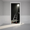 Door Wall Sticker Way out Exit - Self Adhesive Fabric Door Wrap Wall Sticker