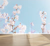 Wall Mural Flower Photography Sakura, Peel and Stick Fabric Wallpaper for Interior Home Decor