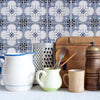 Portugal Tiles Stickers Faro - Pack of 16 tiles - for Walls Kitchen backsplash Bathroom