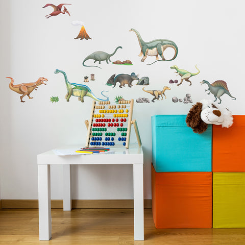 Dinosaurs Wall Sticker Fabric Wall Decal for kids playroom