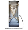 Door Mural Passage surrounded by a colonnade - Self Adhesive Fabric Door Wrap Wall Sticker