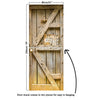 Door Mural Old door with Danger Sign - Self Adhesive Fabric Door Wrap Wall Sticker