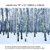 Wall Mural Frozen birch forest in winter day, Fabric Wallpaper for Interior Home Decor