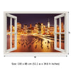 Window Frame Mural New York City - Peel and Stick 3D Wall Decal