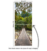 Door Mural Rope bridge across the river - Door Skin, Cover, Wrap